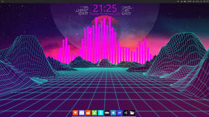 Vaporwave aesthetic and linux vibes