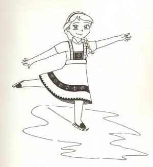 Young Elsa Skating