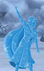 Anna Frozen in Ice - Colored