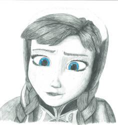 Frozen Anna - Dat Lip Bite by GDkitty