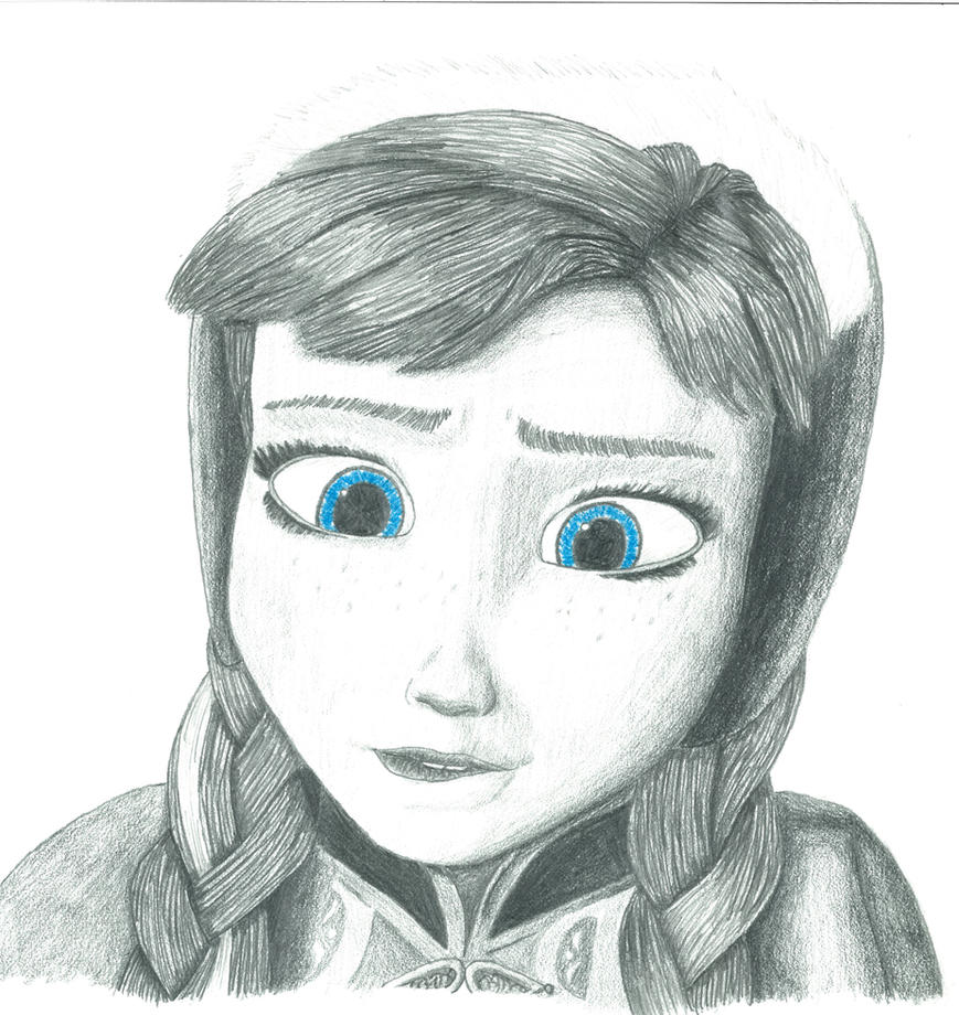 Frozen Anna - Dat Lip Bite by GDkitty