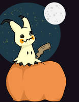 Mimikyu Halloween by spinning-clover