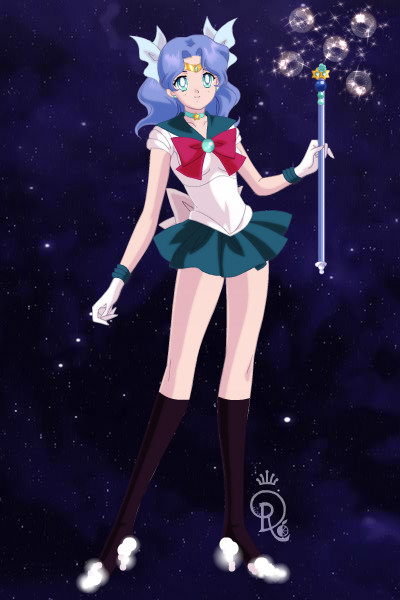 Sailor Anemone and Coronaria Staff by CrystalSailorMoon