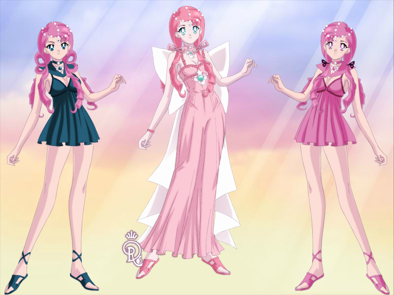 Sailor Lethe, Princess Pacemity, Sailor Mnemosyne by CrystalSailorMoon