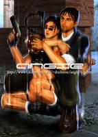 Tomb Raider Lara and Kurtis