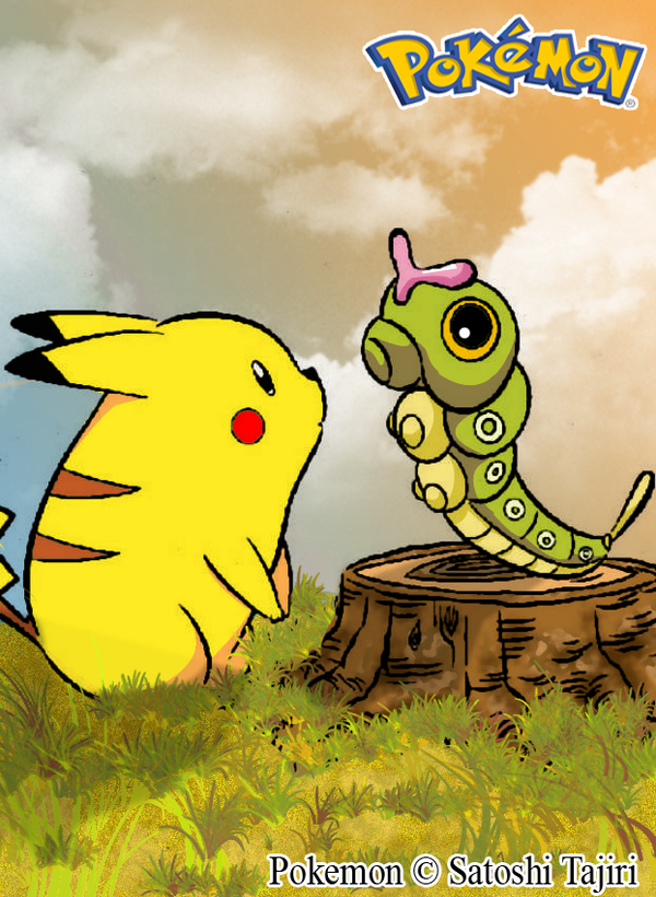 Pokemon Pikachu Y Caterpie 203653024