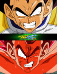 Vegeta VS Goku - Coloured