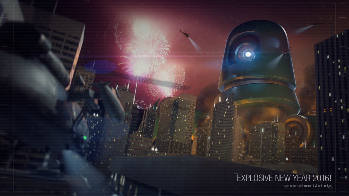 EXPLOSIVE NEW YEAR by artmanphil