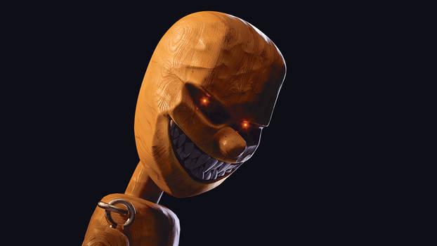 Evil Pinocchio detail