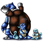 Squirtle and Evos