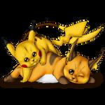 Pikachu and evo