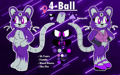 4-Ball the Wood Mouse Ref Sheet (Request)