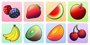 Various vector fruits