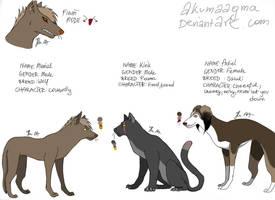 My characters part.1 by AkumaAgma