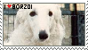 Borzoi stamp by AkumaAgma