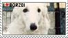Borzoi stamp by AkumaAgma