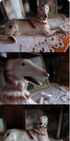 .:Figure of borzoi:. by AkumaAgma