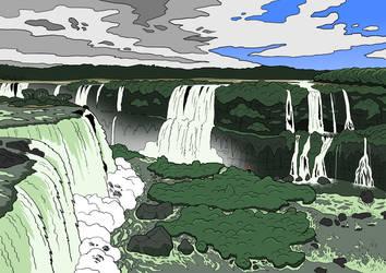 Magic Waterfalls by SugaryAshes