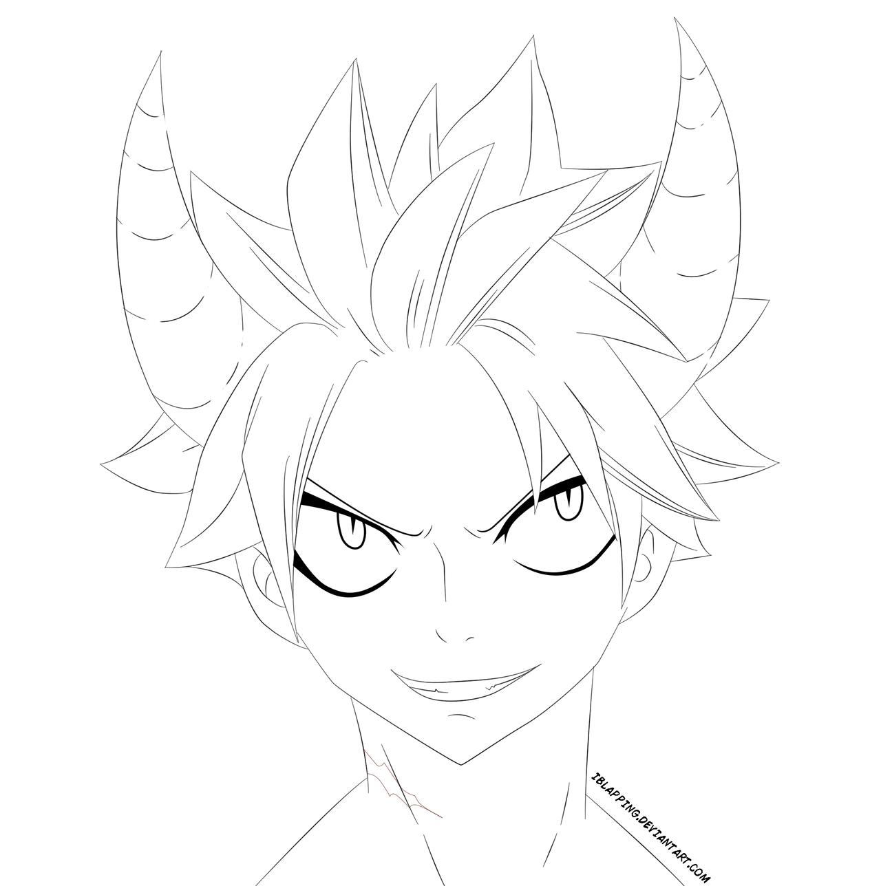 Natsu Lineart : Natsu e n d lineart by iblapping on deviantart