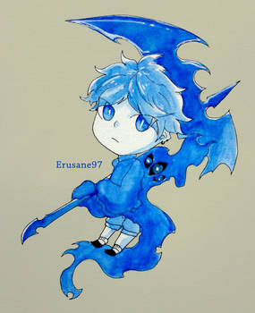 Blue Little shinigami