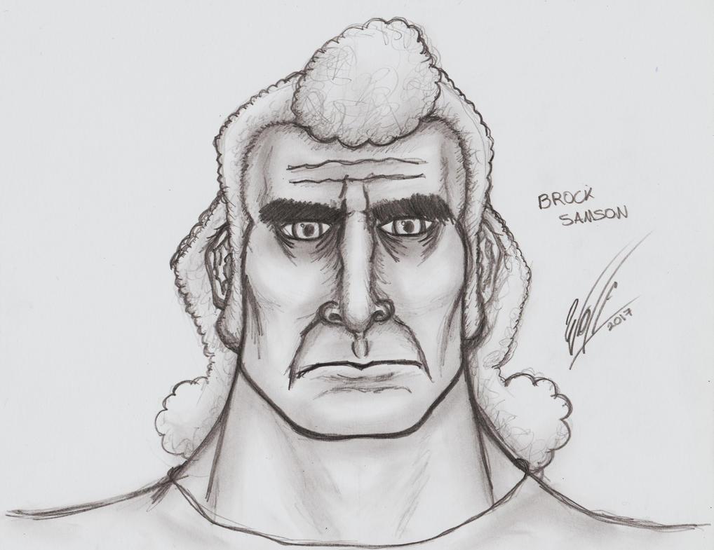 Face Practice 32: Brock Samson by WOLF777MX