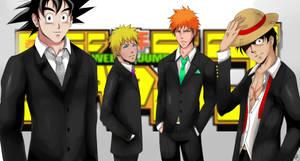 Shounen Jump - Goku, Naruto, Ichigo and Luffy by alisonjohnsonfox
