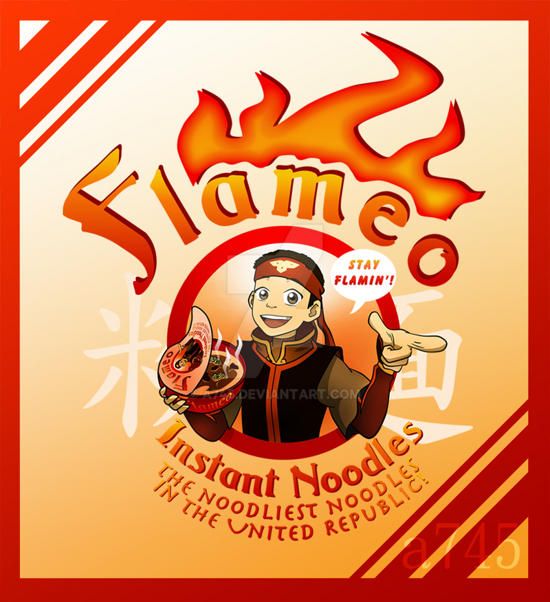 Flameo Instant Noodles! Shirt Design by a745