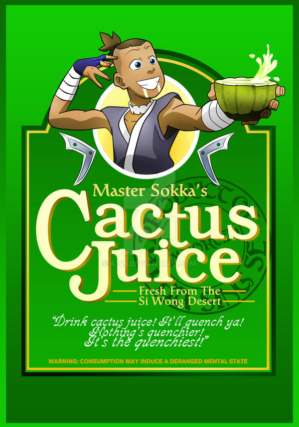 Master Sokka's Cactus Juice! shirt by a745