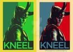 Kneel Before Loki Poster design