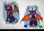Spyro the Dragon -  personal concept