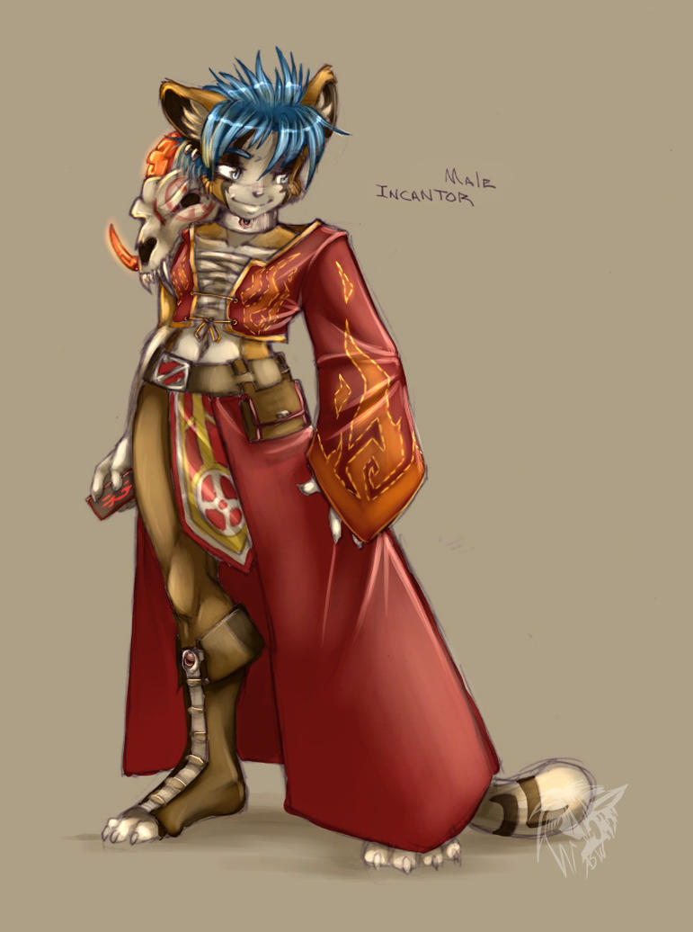 Colored Male Incantor by kamicheetah