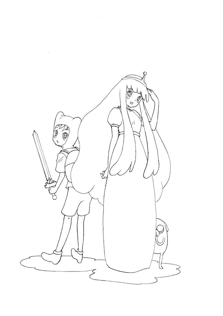 Adventure Time - Finn and Princess Bubblegum by Kakashikun-90