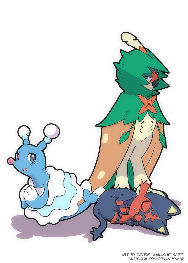 Sun and Moon - Starter Pokemons by Kakashikun-90