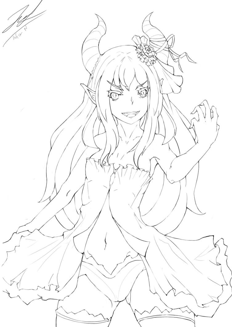Lineart dominica by MioChin