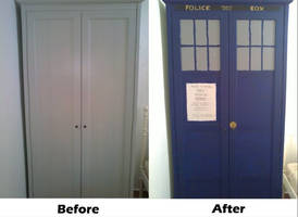 TARDIS wardrobe by vanessaisha