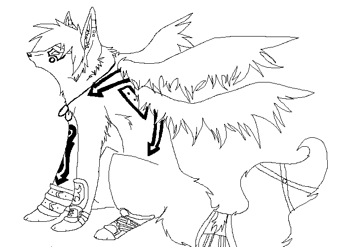 anime wolves fighting coloring pages coloring pages