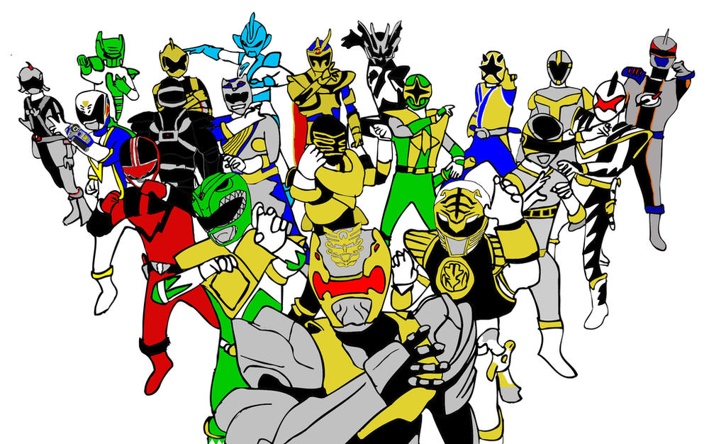 All Sixth Power Rangers (MMPR-Megaforce) by horaciosi