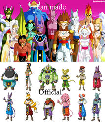 Gods of Destruction Fan Made vs Official