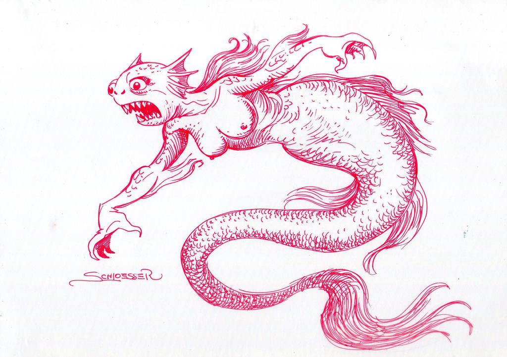 Deep Sea Mermaid by eduardoschloesser