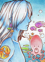 In my Waters - ACEO 007 by Arthay