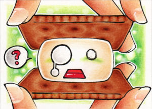 Marshmallow 3 - ACEO 217 by Arthay
