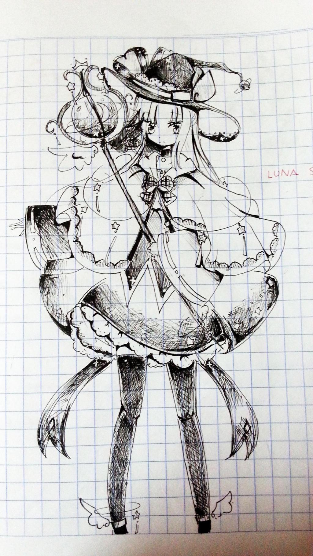 luna strudel doodle by HakuYukihana