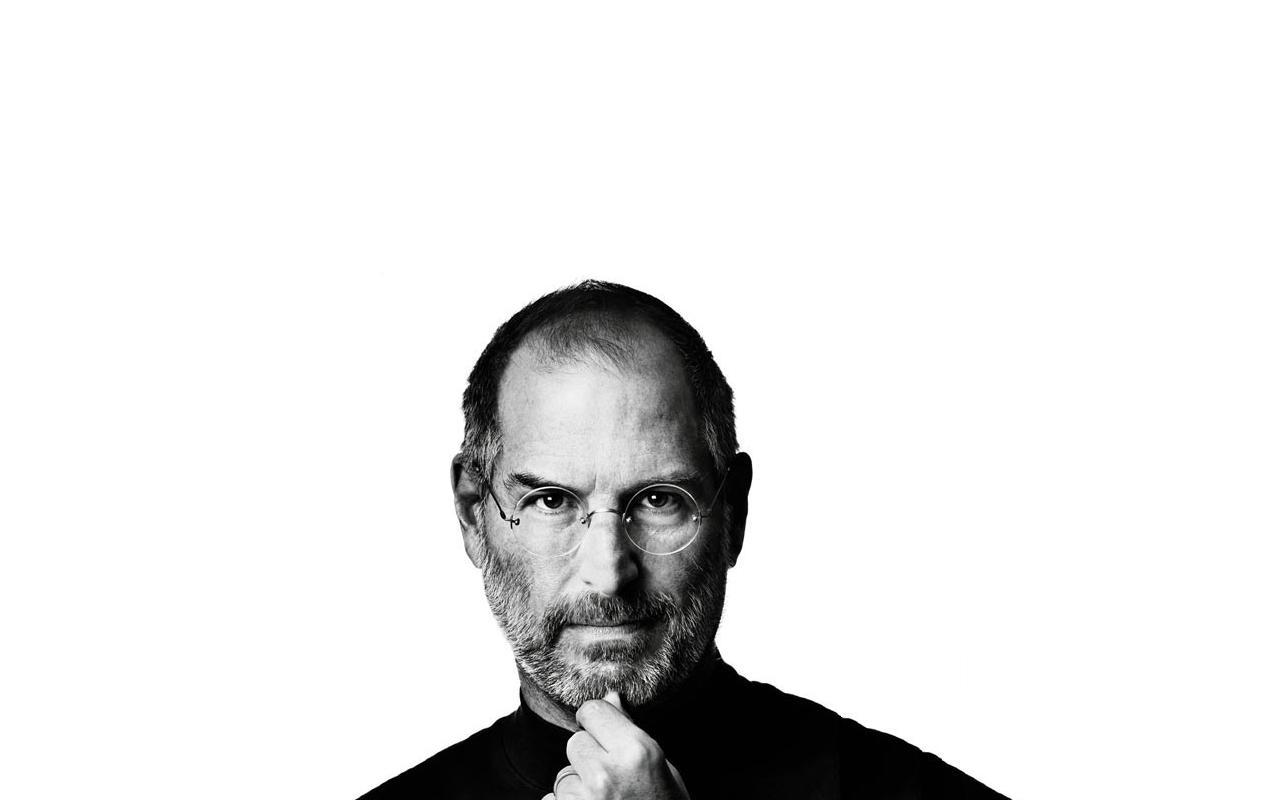 Steve Jobs Wallpaper 1280x800 by uncannyNuncertainty