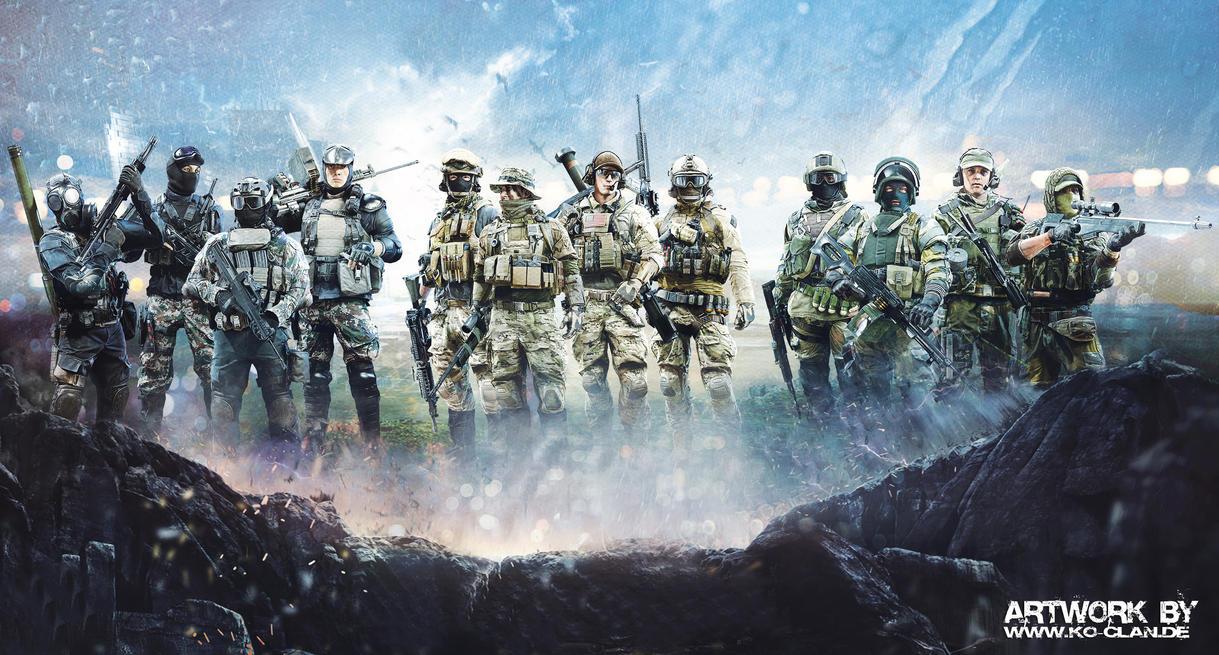 Battlefield 4 Soldiers by Ko-Clan