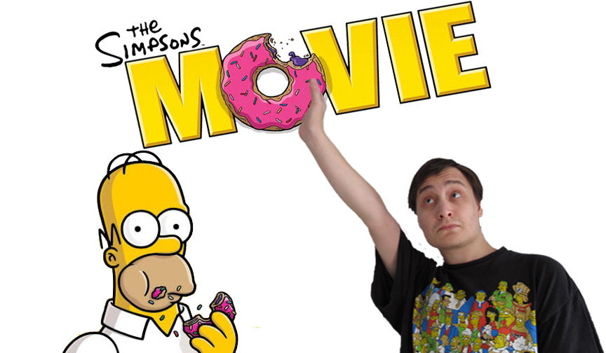 Movie Review Title Card The Simpsons Movie 2007 By Sb1991 On Deviantart