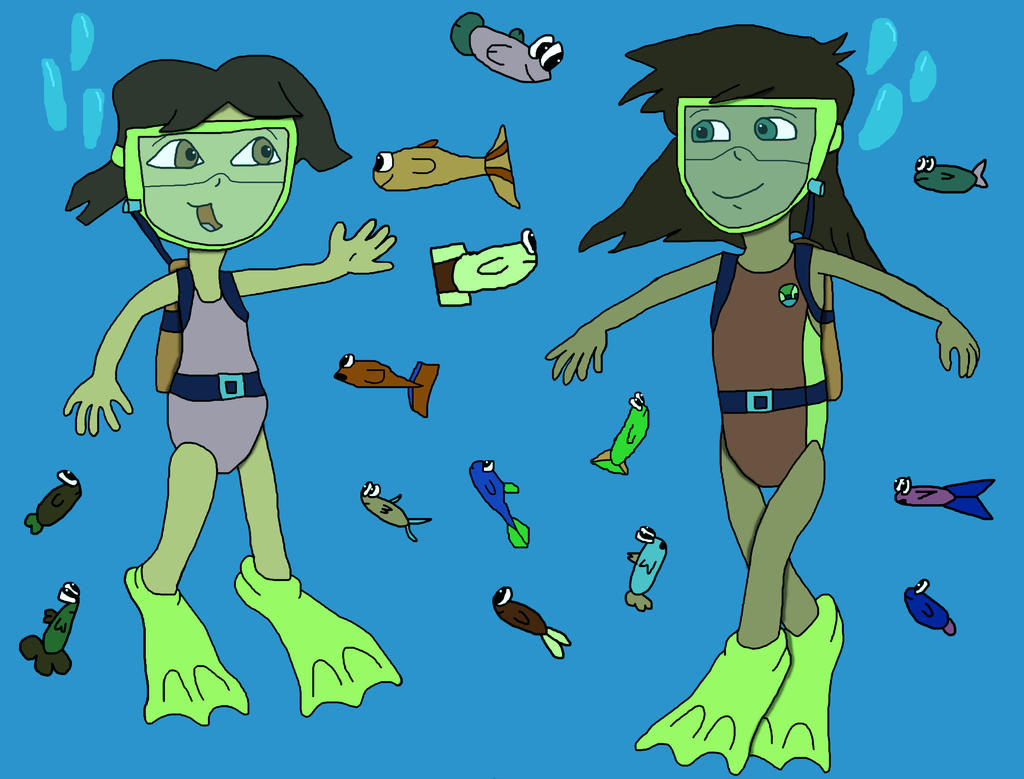 Dora And Alicia Underwater (Request) By SB1991 On DeviantArt
