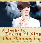 Happy bday to Lay banner by Nhiholic