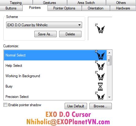 EXO D.O Cursor by Nhiholic