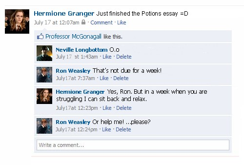 hogwarts facebook 2 by 13kat on deviantart