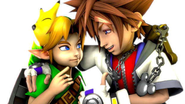 Young Link meets Sora